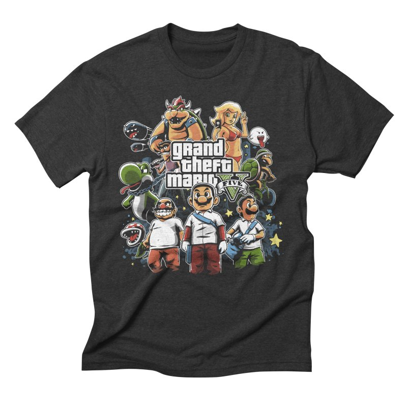 Grand Theft Plumber Men's Triblend T-Shirt by fuacka's Artist Shop