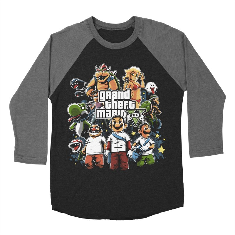 Grand Theft Plumber Men's Baseball Triblend T-Shirt by fuacka's Artist Shop
