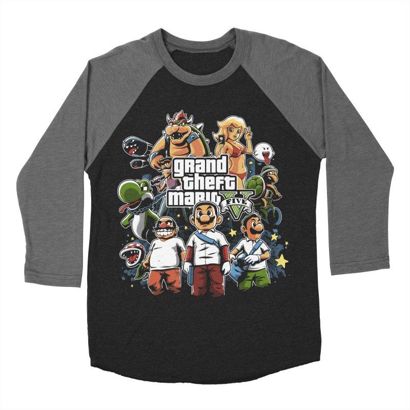 Grand Theft Plumber Men's Baseball Triblend T-Shirt by fuacka's Artist Shop