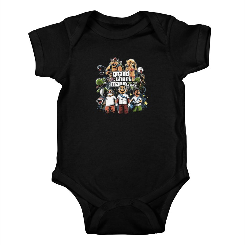 Grand Theft Plumber Kids Baby Bodysuit by fuacka's Artist Shop