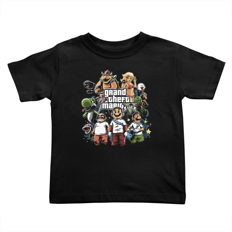 Grand Theft Plumber Kids Toddler T-Shirt by fuacka's Artist Shop