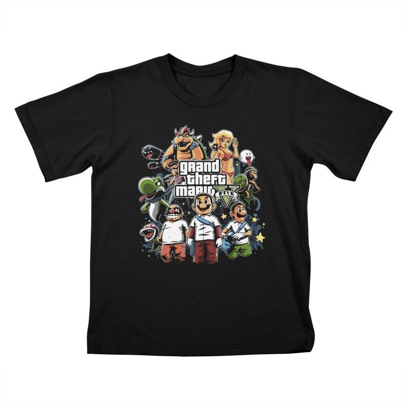 Grand Theft Plumber Kids T-shirt by fuacka's Artist Shop