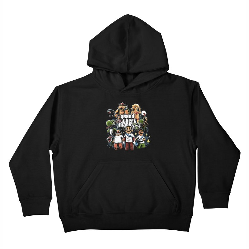 Grand Theft Plumber Kids Pullover Hoody by fuacka's Artist Shop