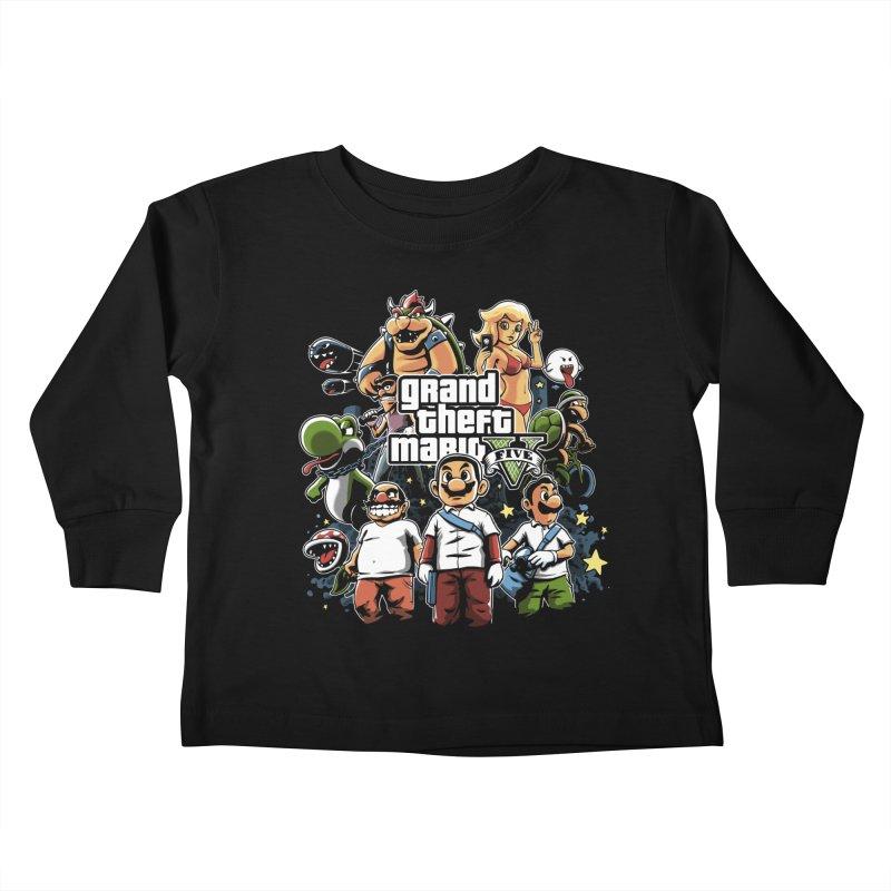 Grand Theft Plumber Kids Toddler Longsleeve T-Shirt by fuacka's Artist Shop