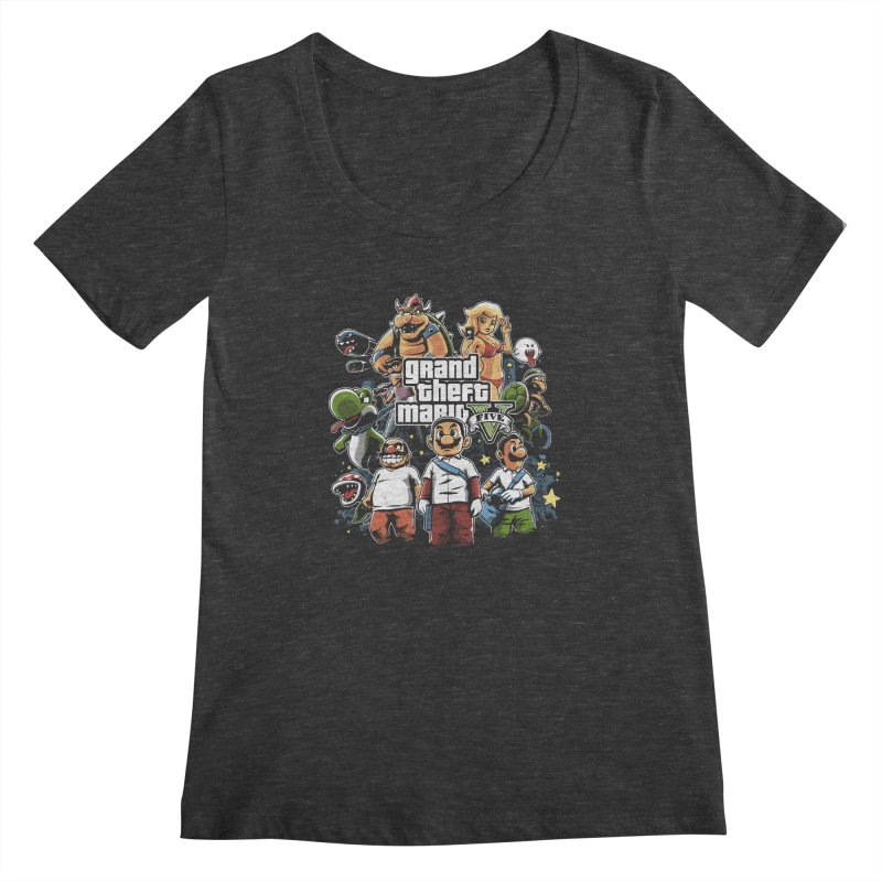 Grand Theft Plumber Women's Scoopneck by fuacka's Artist Shop