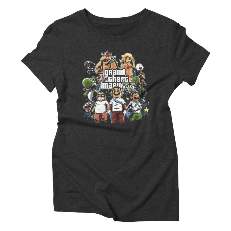 Grand Theft Plumber Women's Triblend T-shirt by fuacka's Artist Shop