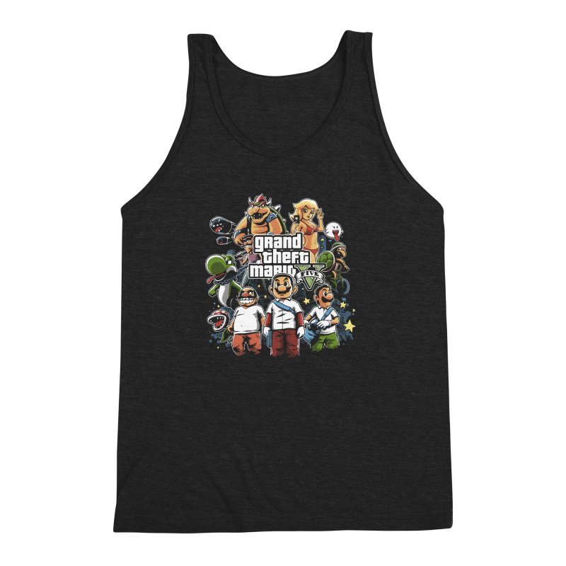 Grand Theft Plumber Men's Triblend Tank by fuacka's Artist Shop