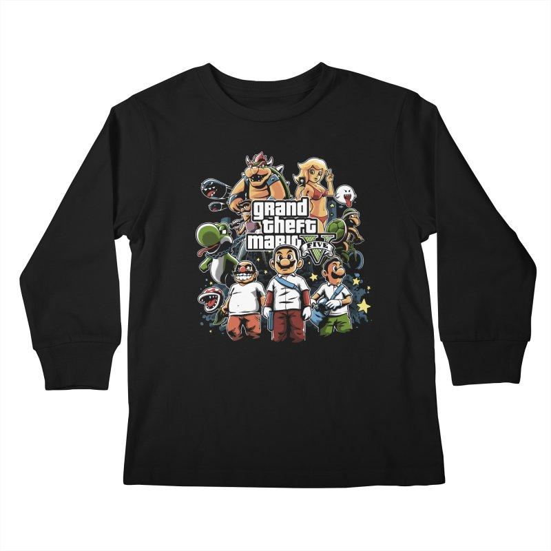 Grand Theft Plumber Kids Longsleeve T-Shirt by fuacka's Artist Shop
