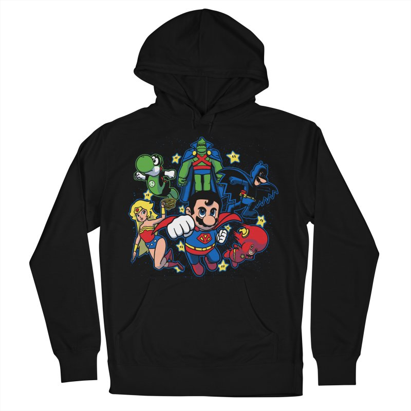 Justice League Mushroom Men's Pullover Hoody by fuacka's Artist Shop