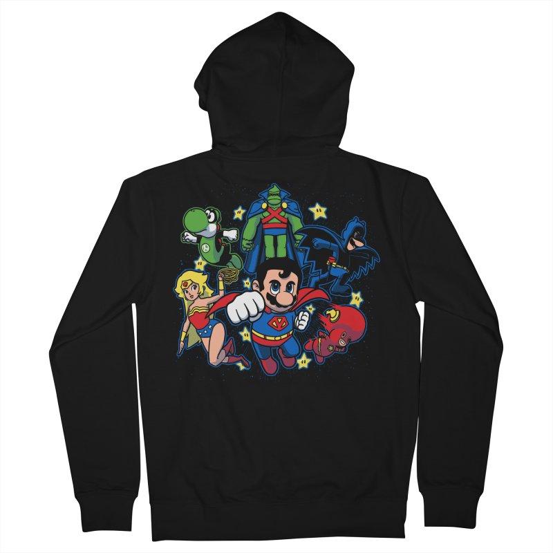 Justice League Mushroom Men's Zip-Up Hoody by fuacka's Artist Shop