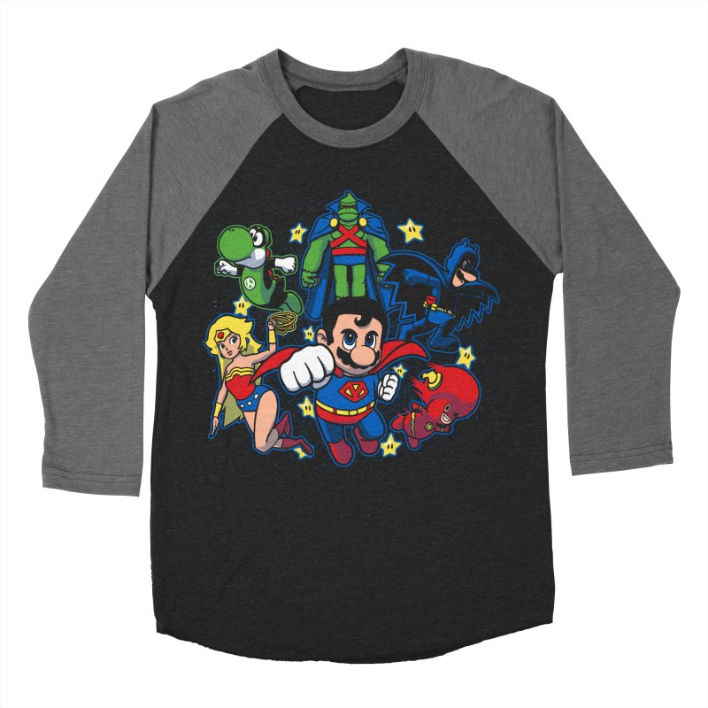 Justice League Mushroom Women's Baseball Triblend T-Shirt by fuacka's Artist Shop