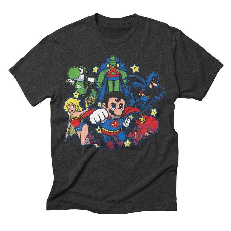 Justice League Mushroom Men's Triblend T-shirt by fuacka's Artist Shop