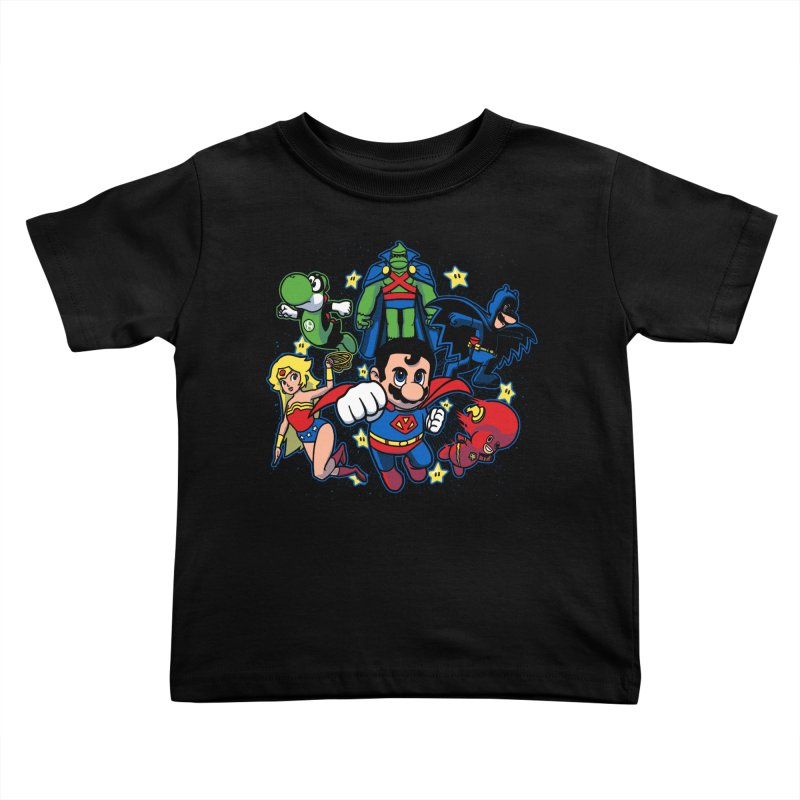 Justice League Mushroom Kids Toddler T-Shirt by fuacka's Artist Shop