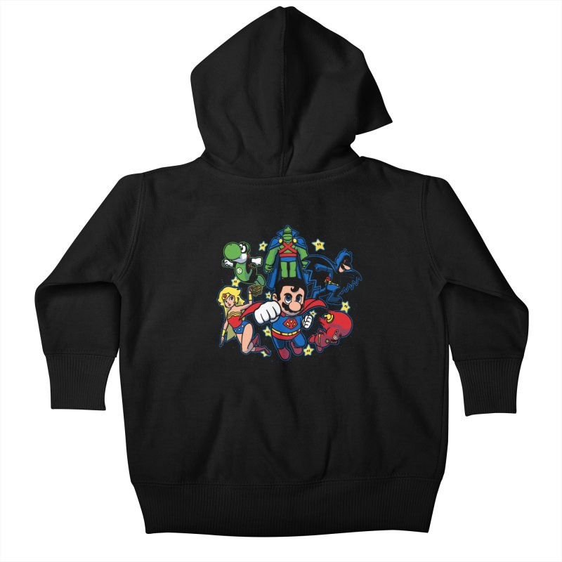 Justice League Mushroom Kids Baby Zip-Up Hoody by fuacka's Artist Shop