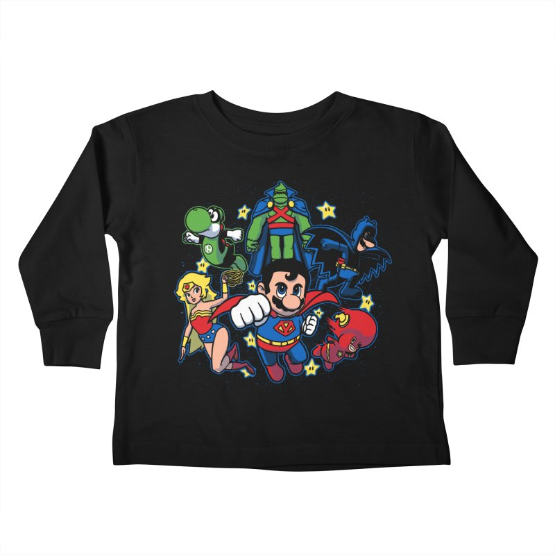 Justice League Mushroom Kids Toddler Longsleeve T-Shirt by fuacka's Artist Shop