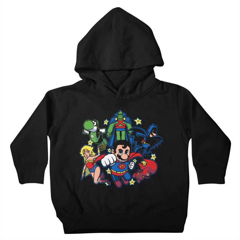 Justice League Mushroom Kids Toddler Pullover Hoody by fuacka's Artist Shop