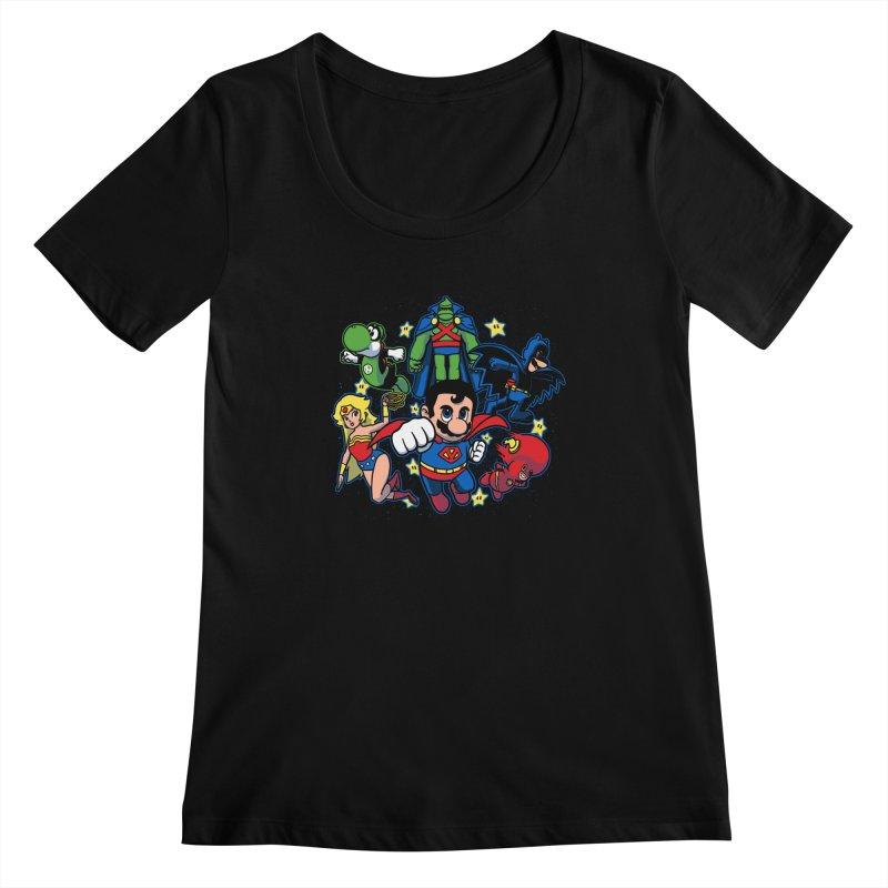 Justice League Mushroom Women's Scoopneck by fuacka's Artist Shop