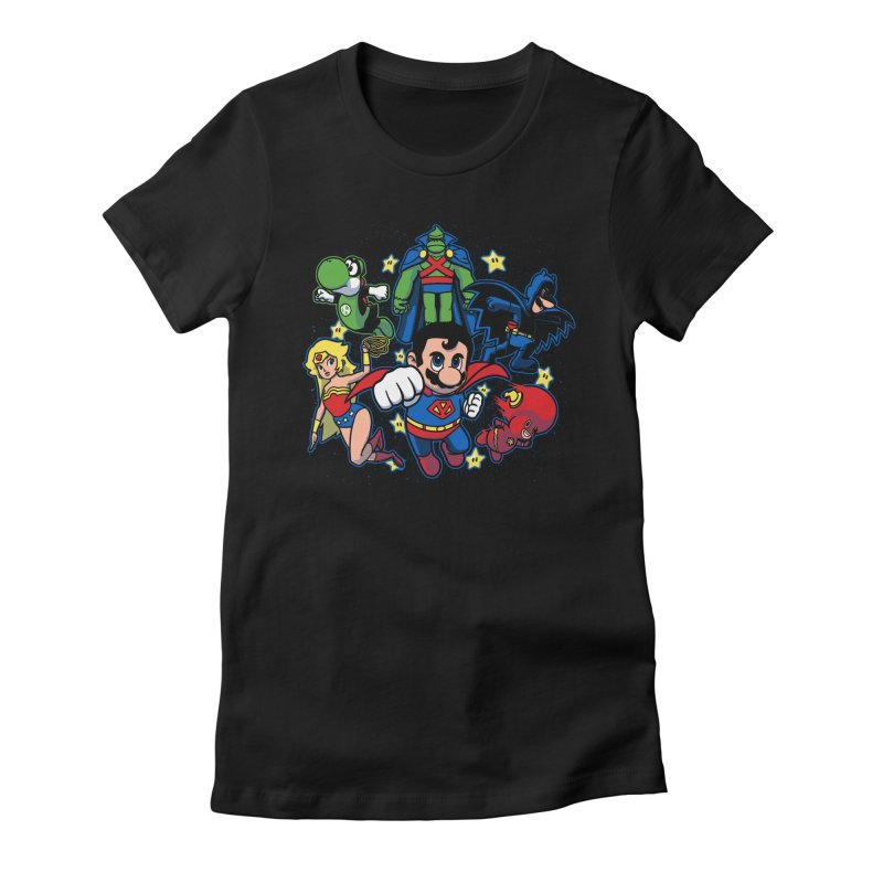 Justice League Mushroom Women's Fitted T-Shirt by fuacka's Artist Shop