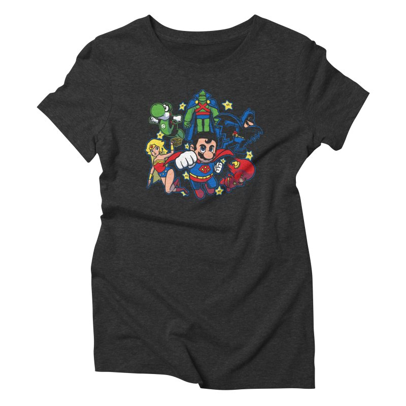 Justice League Mushroom Women's Triblend T-Shirt by fuacka's Artist Shop