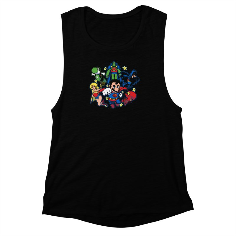 Justice League Mushroom Women's Muscle Tank by fuacka's Artist Shop