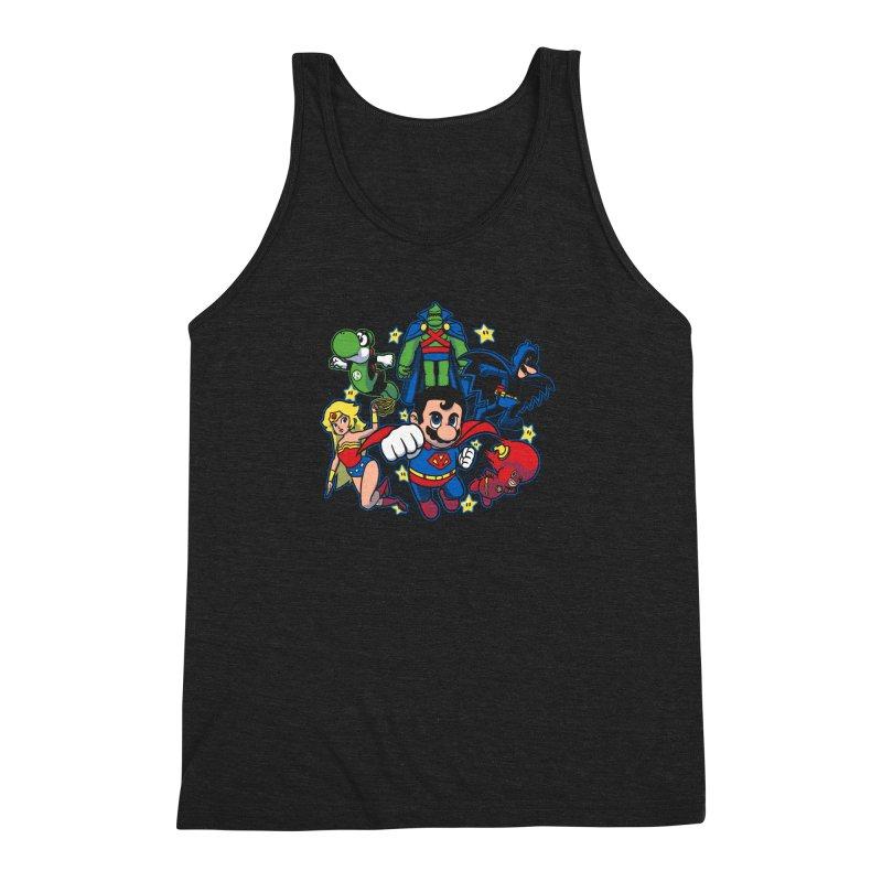 Justice League Mushroom Men's Triblend Tank by fuacka's Artist Shop