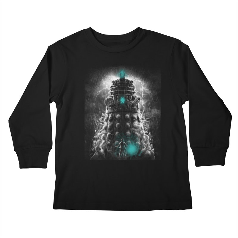 Shadow of the Dalek Kids Longsleeve T-Shirt by fuacka's Artist Shop