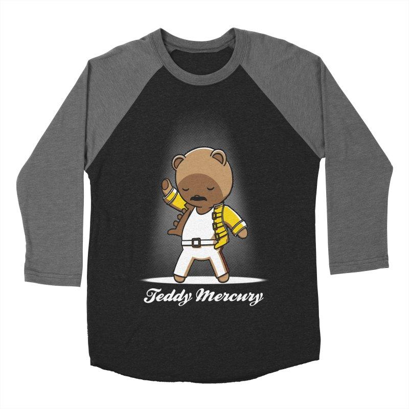 Teddy Mercury Men's Baseball Triblend T-Shirt by fuacka's Artist Shop