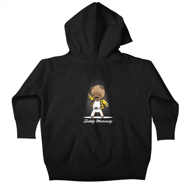 Teddy Mercury Kids Baby Zip-Up Hoody by fuacka's Artist Shop