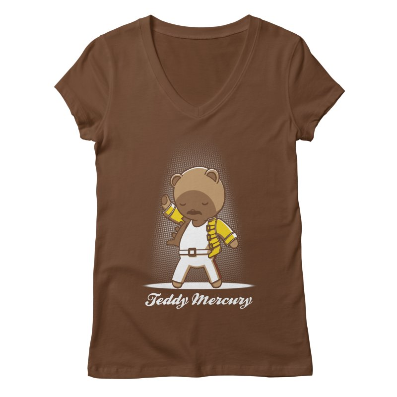 Teddy Mercury Women's V-Neck by fuacka's Artist Shop