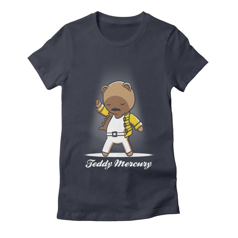 Teddy Mercury Women's Fitted T-Shirt by fuacka's Artist Shop