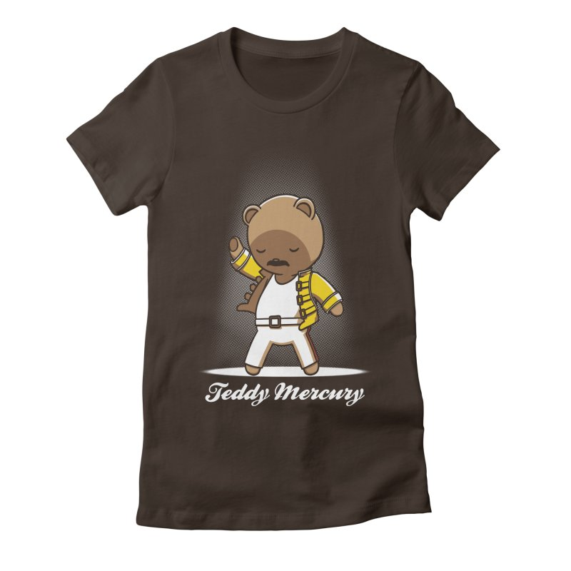 Teddy Mercury Women's Fitted T-Shirt by fuacka's Artist Shop