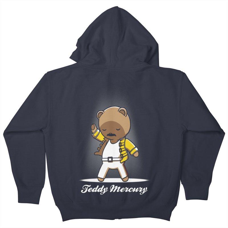 Teddy Mercury Kids Zip-Up Hoody by fuacka's Artist Shop