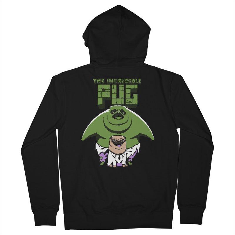 The Incredible Pug Men's Zip-Up Hoody by fuacka's Artist Shop