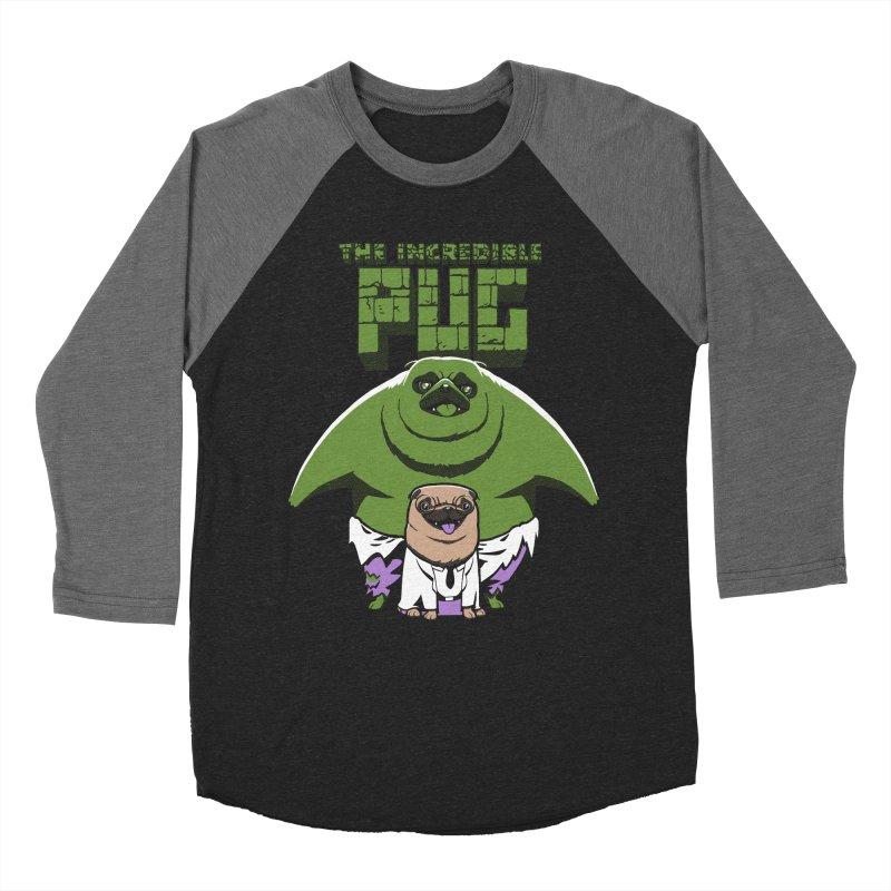 The Incredible Pug Men's Baseball Triblend T-Shirt by fuacka's Artist Shop
