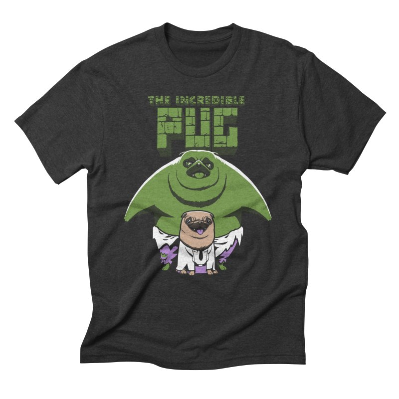 The Incredible Pug Men's Triblend T-shirt by fuacka's Artist Shop