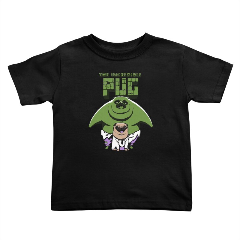 The Incredible Pug Kids Toddler T-Shirt by fuacka's Artist Shop