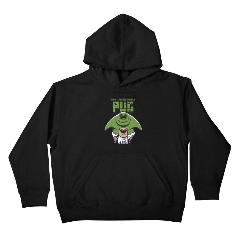 The Incredible Pug Kids Pullover Hoody by fuacka's Artist Shop