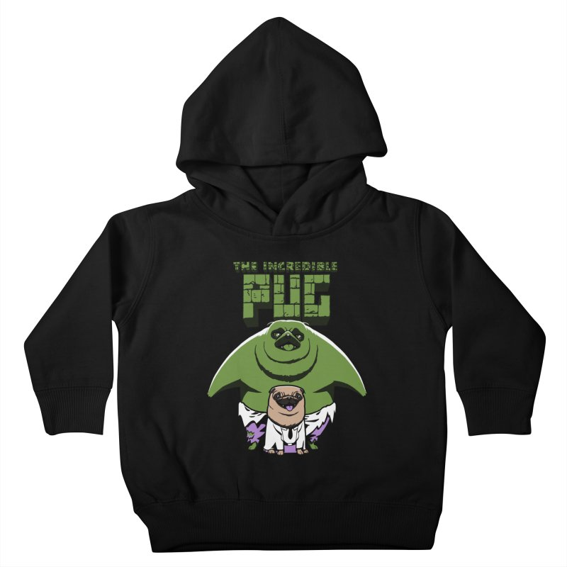 The Incredible Pug Kids Toddler Pullover Hoody by fuacka's Artist Shop