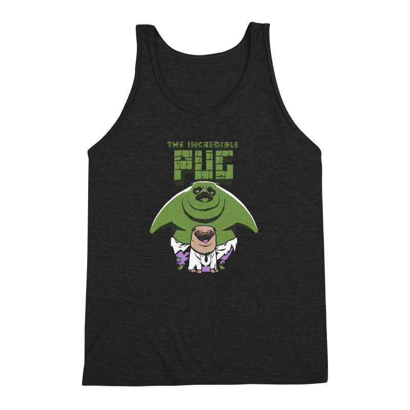The Incredible Pug Men's Triblend Tank by fuacka's Artist Shop