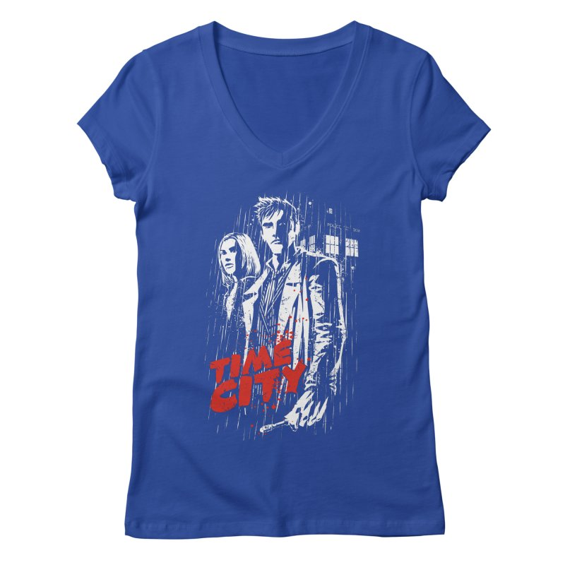 Time City Women's V-Neck by fuacka's Artist Shop