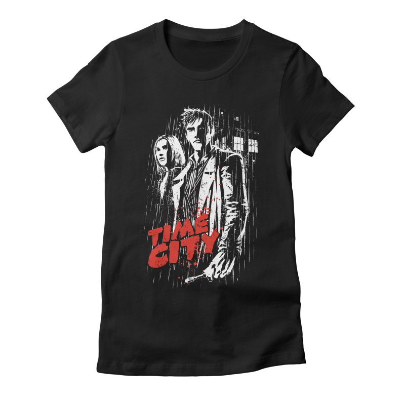 Time City Women's Fitted T-Shirt by fuacka's Artist Shop