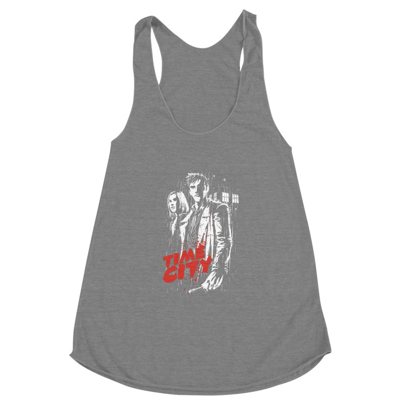 Time City Women's Racerback Triblend Tank by fuacka's Artist Shop