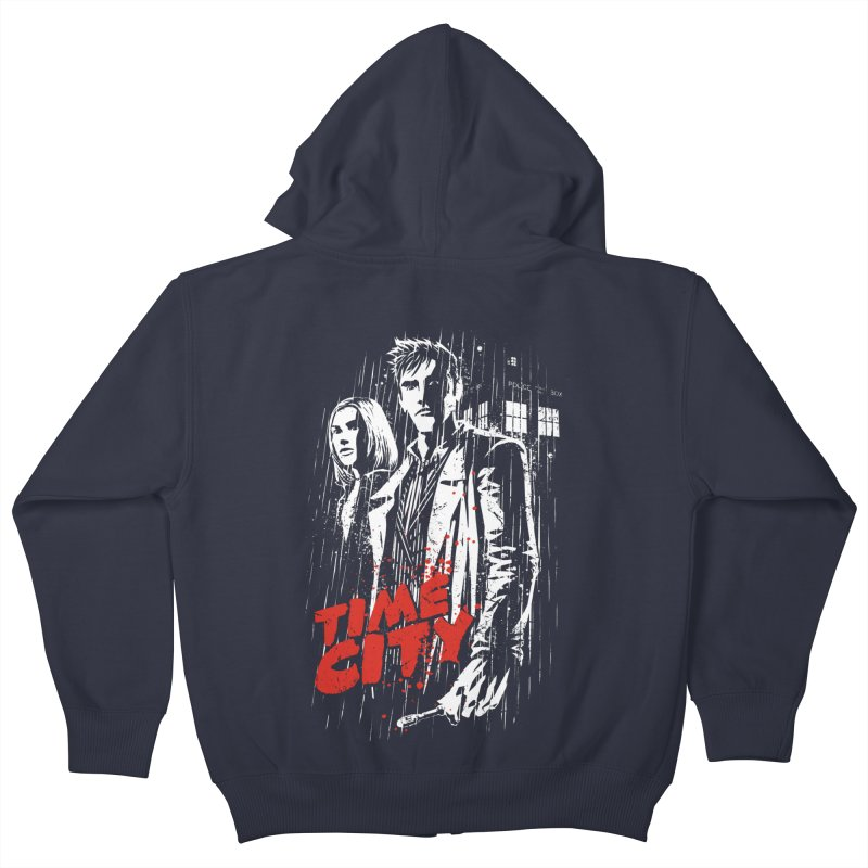 Time City Kids Zip-Up Hoody by fuacka's Artist Shop