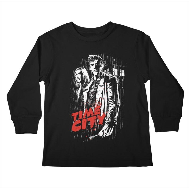 Time City Kids Longsleeve T-Shirt by fuacka's Artist Shop
