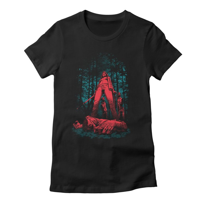 Huntress Women's Fitted T-Shirt by fuacka's Artist Shop