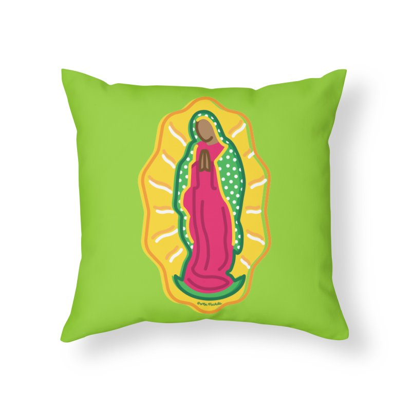 Mi Lupita Home Throw Pillow by Fuchila
