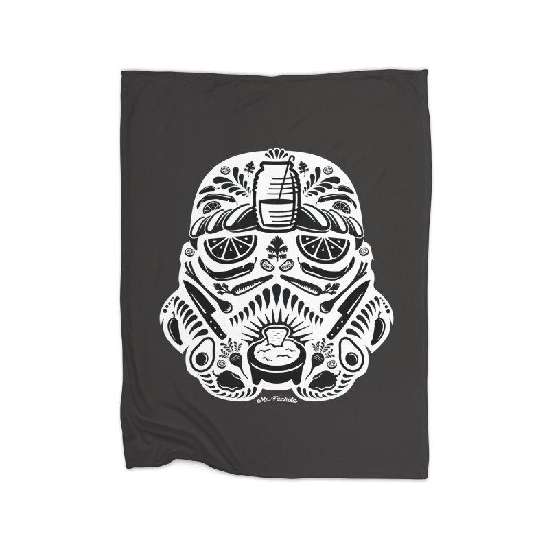 Taco Trooper Home Fleece Blanket Blanket by Fuchila