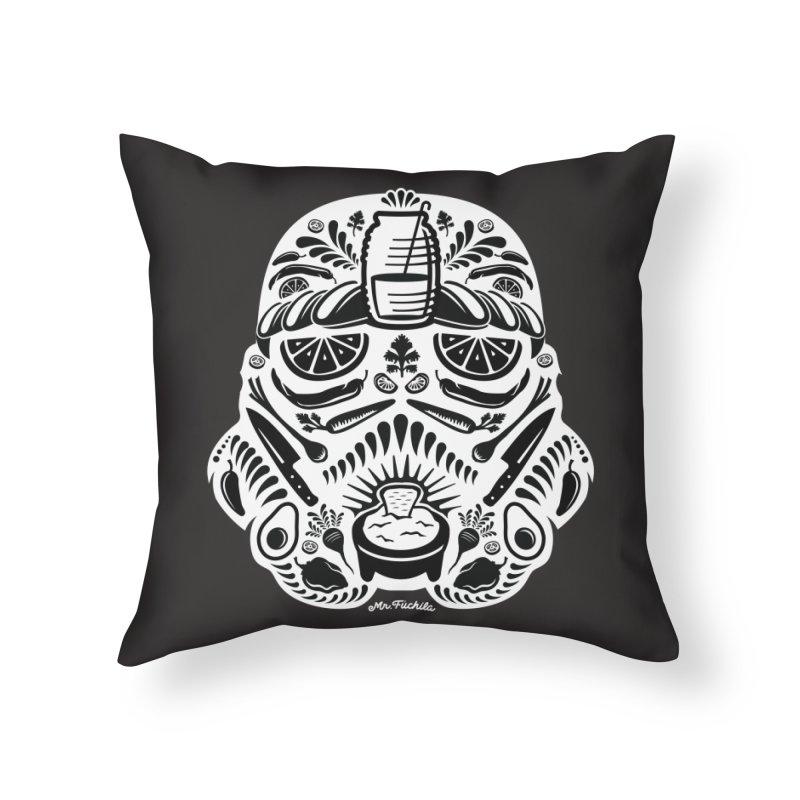 Taco Trooper Home Throw Pillow by Fuchila
