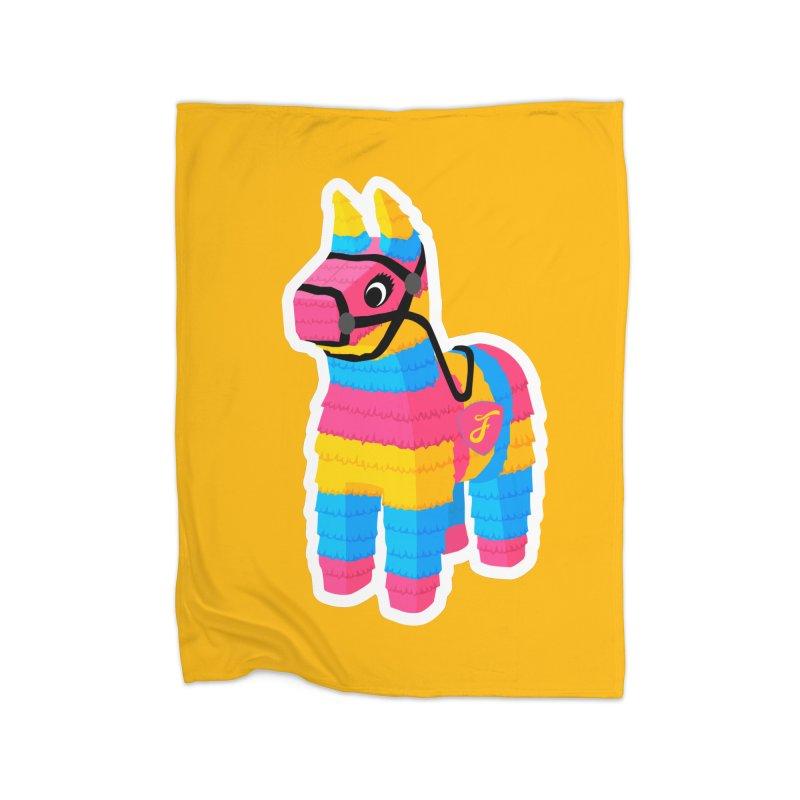 El Burrito Home Fleece Blanket Blanket by Fuchila