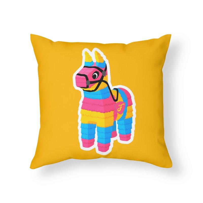 El Burrito Home Throw Pillow by Fuchila
